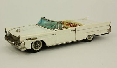 Bandai Tin Lincoln Continental Vintage Friction Automobile Toy Convertible Car