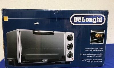 DeLonghi Convection Toaster Oven w Grill & Rotisserie RO-2058 NEW in box (3P)