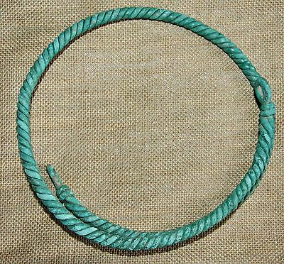 Ancient Old Bronze Neck Torc. Viking Age. (NOW)