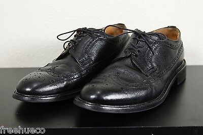 RRL Double RL Wilberforce (Cheaney) Wingtip Blucher Oxford Shoes -Black -US 10
