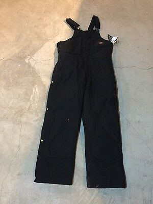 Mens Dickies Winter Quilted Lined Bib Overalls Size Large