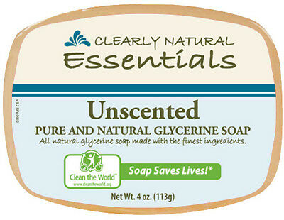 Glycerine Bar Soap, Clearly Natural, 4 oz 3 pack Unscented