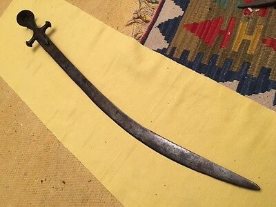 Antique Large Turkish - Mughal Sword Tulwar  Ottoman style Kilij - Shamshir
