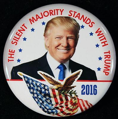 Donald Trump - Silent Majority Stands With Trump Campaign Pin