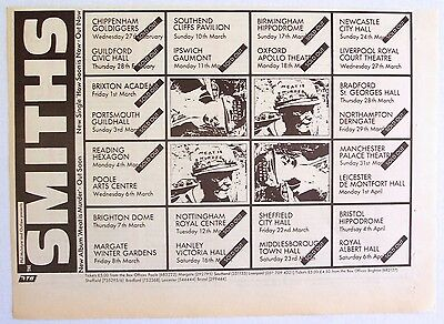 THE SMITHS 1985 poster type Advert UK CONCERT TOUR meat is murder