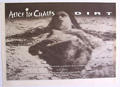 ALICE IN CHAINS 1992 poster type Advert DIRT