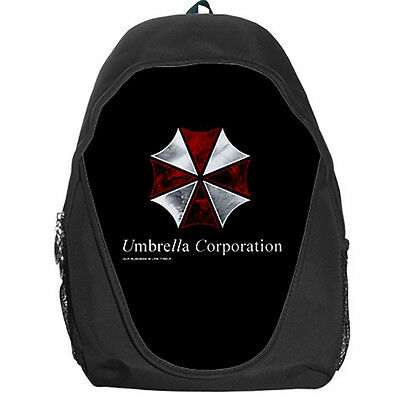 Resident Evil Umbrella Corporation Teen Kids Canvas School Backpack Bag Rucksack