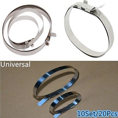 20 PCS OF UNIVERSAL STAINLESS STEEL DRIVESHAFT Axle BOOT CV JOINT BOOT CLAMPS