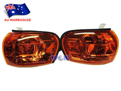 For Subaru Impreza GC8 WRX STI Side Repeaters Indicators Crystal Amber To AU