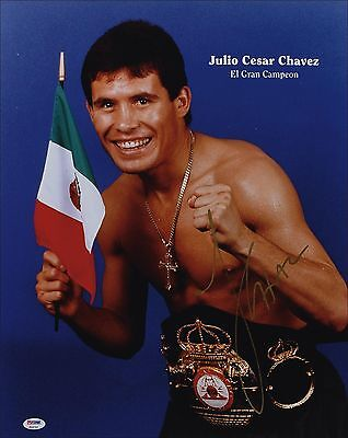 Julio Cesar Chavez Mexico El Gran Campeon Reproduction Signed Boxing Poster