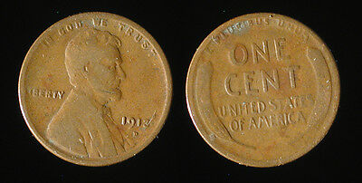 1913-D Lincoln cent