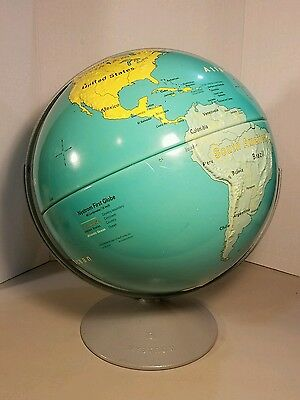 Large Vintage Rare Nystrom  Beautiful 16 Inch First World Globe