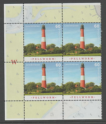 Germany - Lighthouse MNH Block of 4
