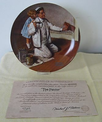 """Norman Rockwell Knowles Fine China """"the Painter"""" With Ca"""