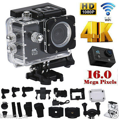 4K WIFI 1080P Mini Action Cam Waterproof 16MP HD DV Sports Recorder Camera+Parts