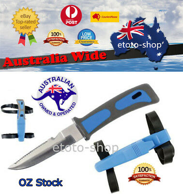 Scuba Diving,Snorkelling Knife with Straps -NEW