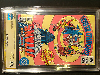 New Teen Titans 10 9.2 white pages SS George Perez, 2nd app. Deathstroke