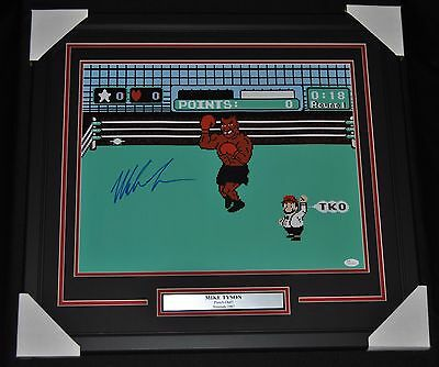 Mike Tyson Signed Punch Out Framed 16x20 Photo  JSA