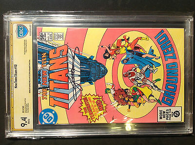 New Teen Titans 10 9.4 white pages SS George Perez, 2nd app. Deathstroke