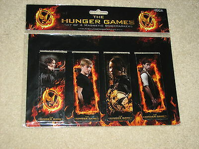 The Hunger Games Set of 4 Magnetic Bookmarkers NIP!  L@@k!
