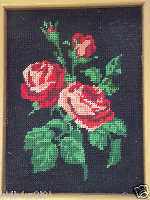 Crafts Tapestry Completed Needlepoint Picture Gold Framed Steiner Freres France