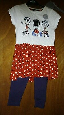 Girls age 3 to 4 yrs leggings and top outfit new