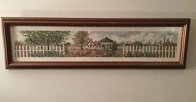 Cross Stitch Wooden Framed Picture