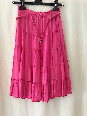 Pink tiered Skirt- Age 16
