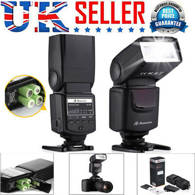 Manual Hot Shoe Speedlight Flash Light for Nikon Canon Pentax Olympus DSLR V8J6