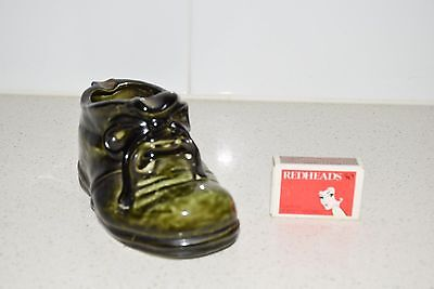 Vintage Boot Ashtray Miniature Shoe Ceramic Collectable Tobacciano