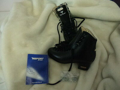 Black Risport Ice Skating Boots Size 250 Super Diamants