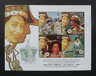 Grenada 2002 MNH Mini Sheet. Golden Jubilee of Queen Elizabeth II.