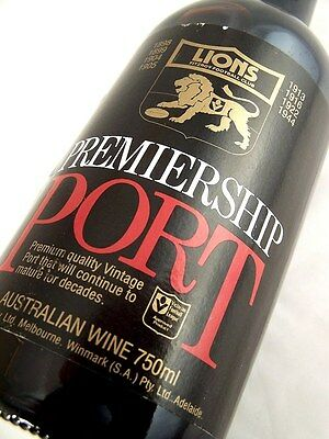 1981 FITZROY LIONS Premiership Vintage Port FREE SHIP A Isle of Wine