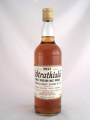1937 STRATHISLA Highland Pure Single Malt Whisky 750ml (MW) Isle of Wine