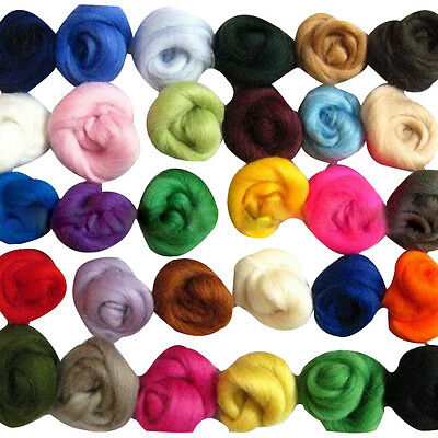 Set of 36 colors Merino Wool Fibre Wool Roving For Needle Felting DIY