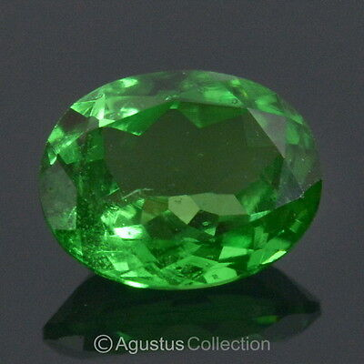 0.40 cts TSAVORITE Garnet Natural Rich Green Oval VS Clarity Facet-Cut Tanzania
