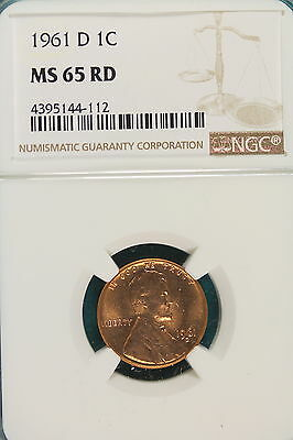 1961-D NGC MS65 RED LINCOLN MEMORIAL Cent!! #A5892