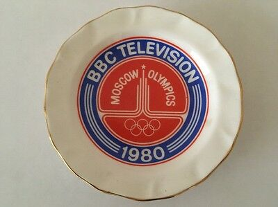 Moscow OLYMPICS 1980 BBC Television Ashtray / Plate / Dish by Rodek