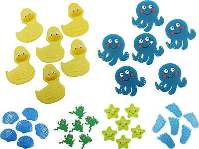 Pack of 6 Splash Kids Child's Baby Safety Strong Suction Anti Slip Bath Grip