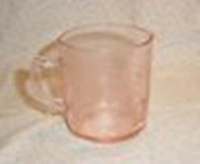 Pink Glass Dove Mesuring Cup