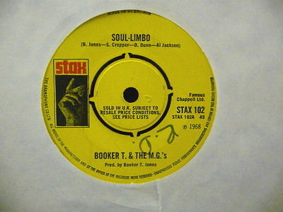 "Booker T. & The M.g`s "" Soul - Limbo "" Uk Stax Ex Cond."