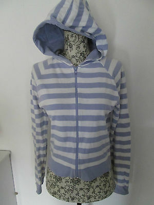 George - Lilac/White Zip Up hoodi size 13-14 years 100% cotton