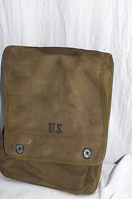 WWII US Army Canvas Dispatch or Map Case Made by National Shoe Corp 1942