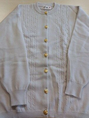 Vintage Pringle Cream Cardigan 100% Lambswool With Beautiful Buttons