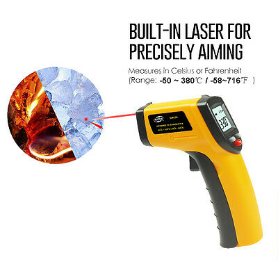 Laser Non-contact Thermometer Temperature LCD IR Handheld Infrared