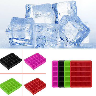 20-Cavity Large Cube Ice Pudding Jelly Maker Mold Mould Tray Silicone Tool PL