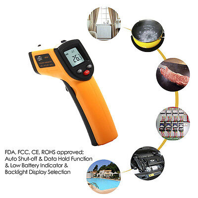 Digital Laser Thermometer Infrared IR Temperature Thermal Meter LCD Non-contact