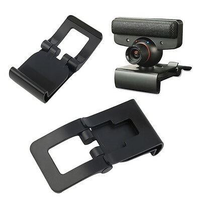 New Black TV Clip for Sony PS3 Move Eye Camera Mount Holder Stand Adjustable CK