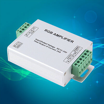 24A Amplifier Repeater For Extend Signal LED 5050 3528 RGB Strip Light UK