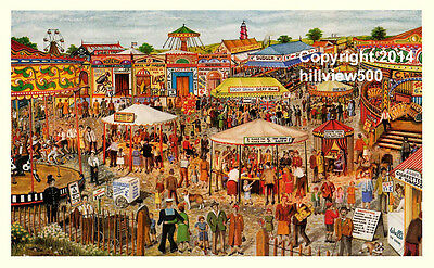 The Fairground - Signed Limited Edition Print by Lewis C Bennett, a Vintage Fair